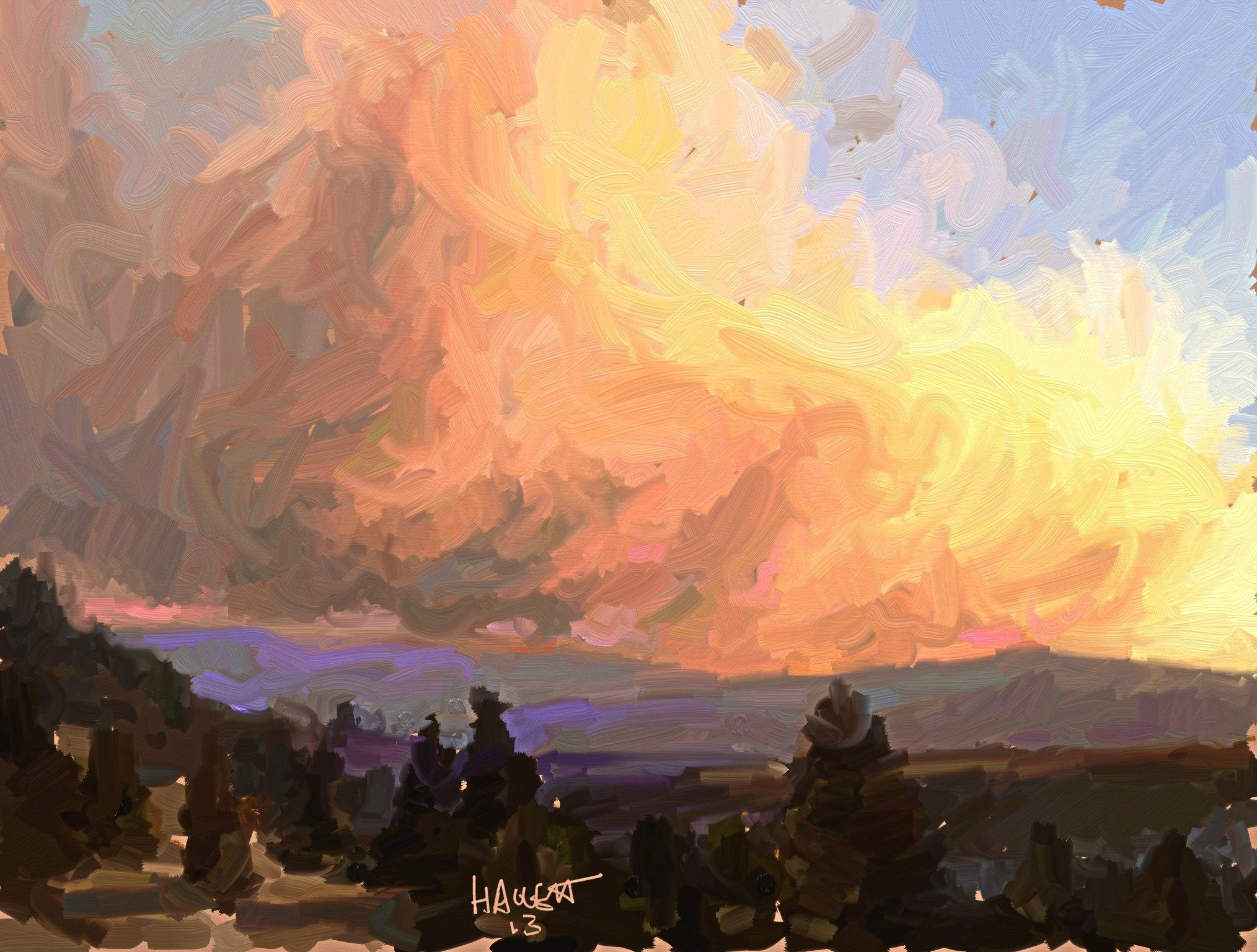 'Lolo Creek Complex' ipad sketch  Posted by benhaggett on August 19, 2013