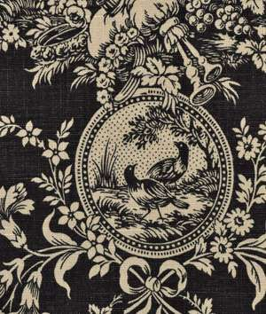 Waverly Country House Toile Black