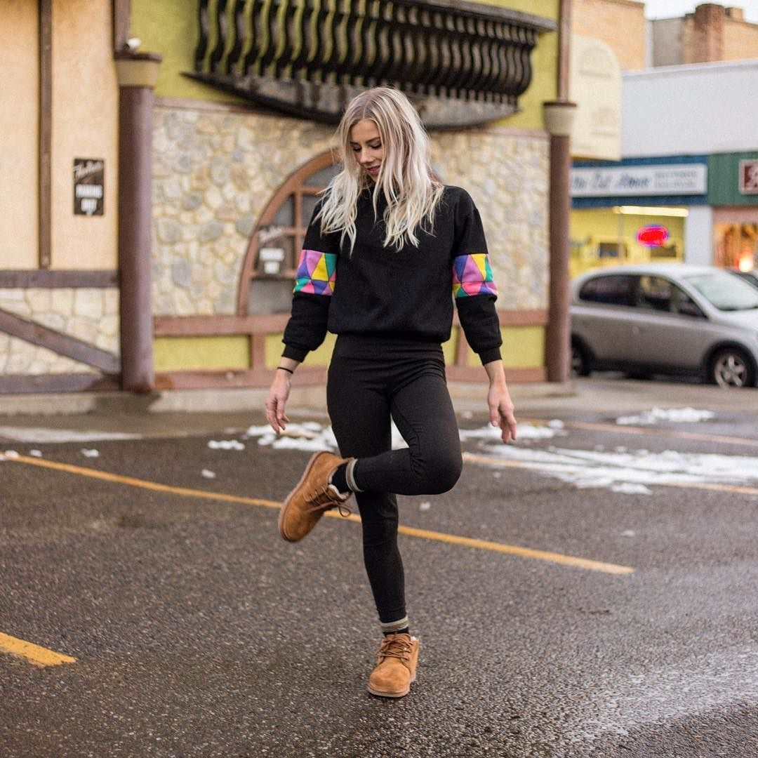 ... sweatshirt with a bright retro pop of color on the sleeves, and a scrunched down sock - all perfectly framing the casual comfort of Chestnut UGG Neumel ...