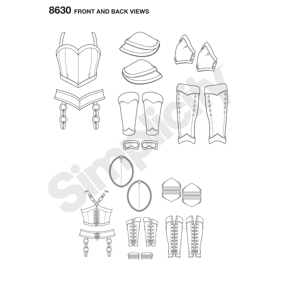 Simplicity Pattern 8630 Misses' Cosplay Armor | Cosplay ...
