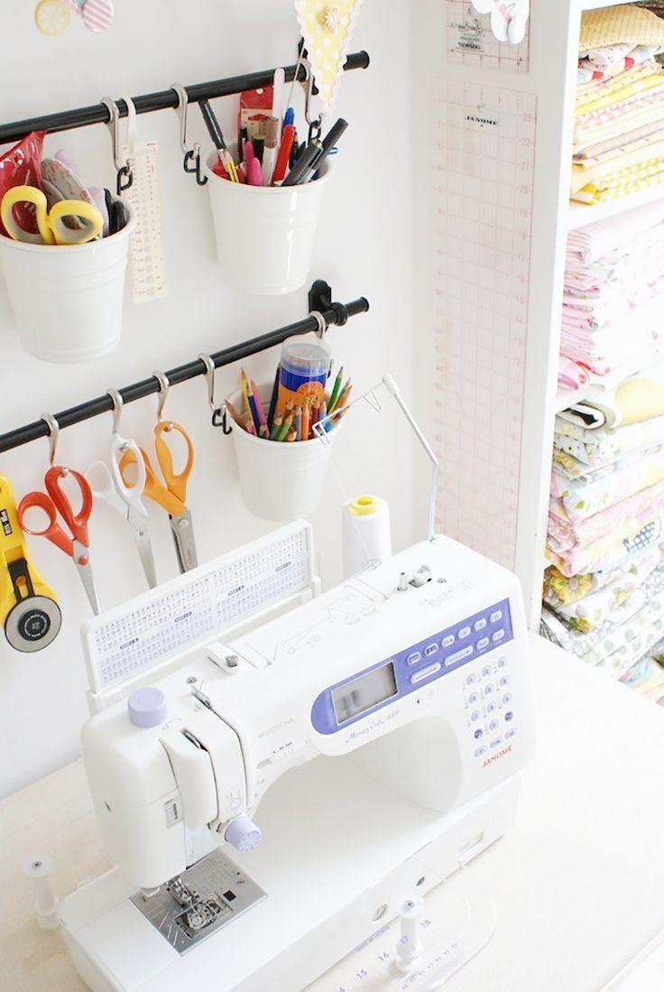 Discover 17 Ingenious Craft Room Storage Solutions Craft Room Storage Ikea Sewing Rooms Sewing Room Organization