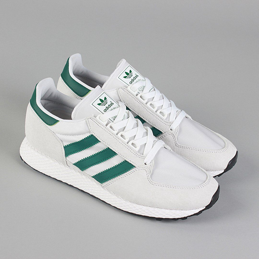 0fa027986 Image result for ADIDAS FOREST GROVE - WHITE/COLLEGIATE GREEN | Feet ...