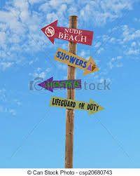 cartel direccional playa - Buscar con Google