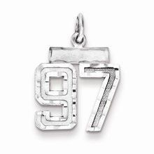 Small #97 Charm in Sterling Silver