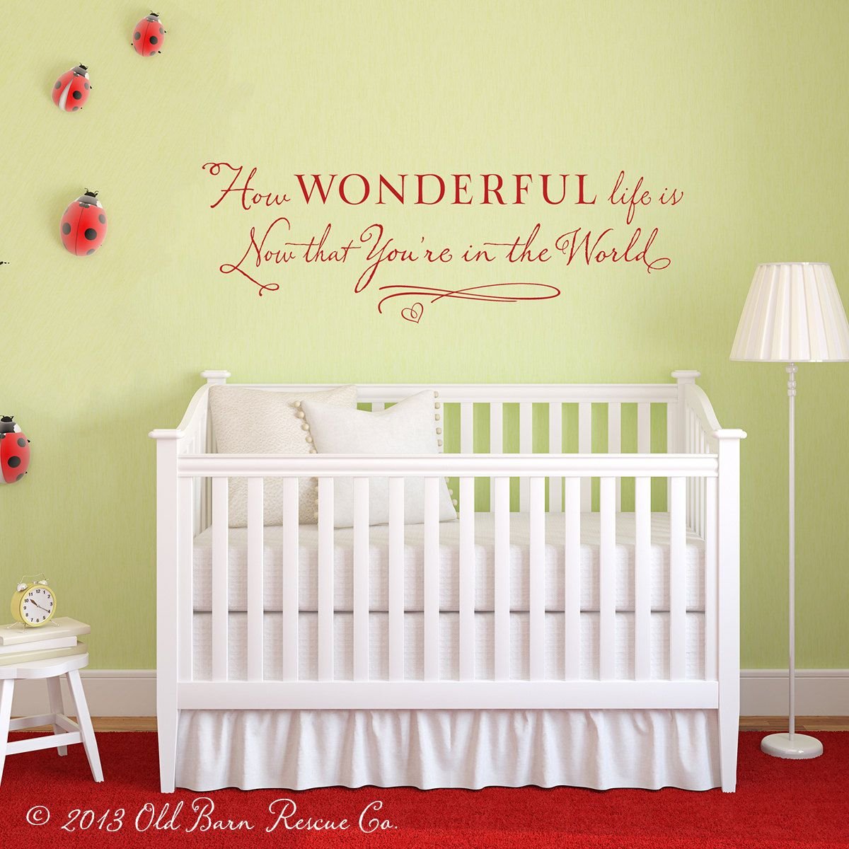 How Wonderful life is now that You\'re in the World - Vinyl Wall ...