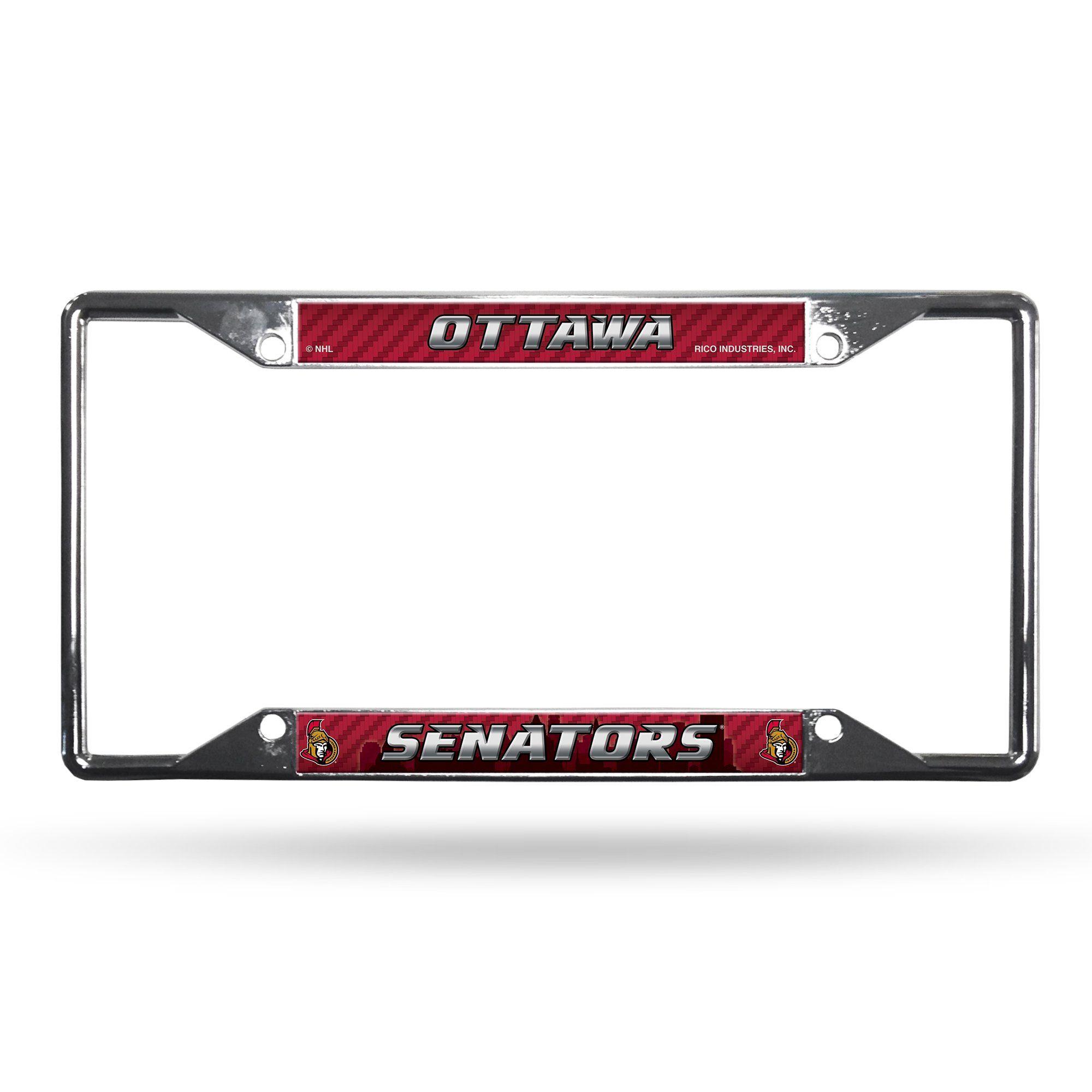 Ottawa Senators License Plate Frame Chrome EZ View | Products ...