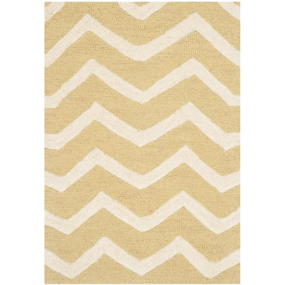 Cambridge Light Gold Ivory 2 Ft X 3 Ft Area Rug Gold Rug Area Rugs Wool Area Rugs