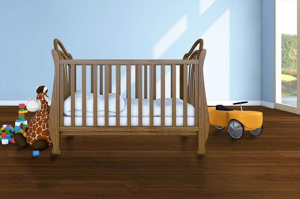 BuildDirect – Bamboo - Stained Horizontal Handscraped Collection – Cape Breton Ginger - Bedroom View