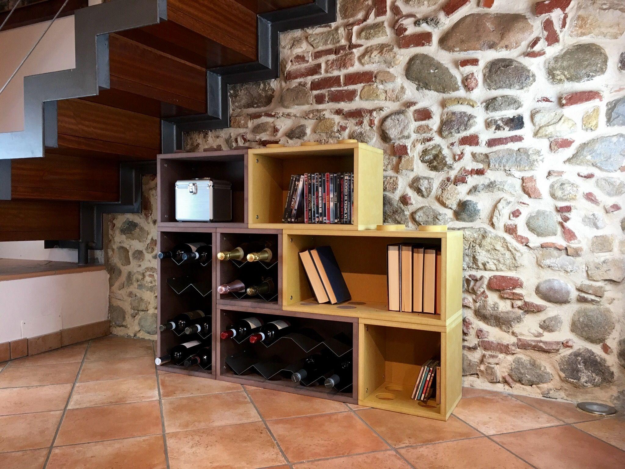 Idea di arredamento mobile contenitore modulare, portabottiglie vino ...