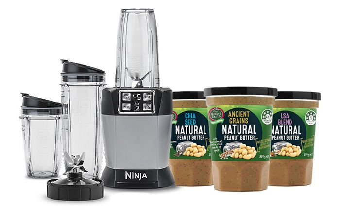We have the full Mother Earth Superfood Peanut Butter range to give away, along with a Nutri Ninja blender, valued at over $270.  Ends 8th May 2016