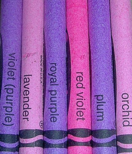 Crayons In Diffe Shades Of Purple