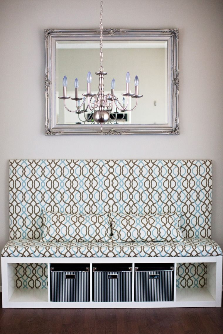 Superb Classy DIY Banquette By An IKEA Fan Using EXPEDIT Shelving Unit And KASSETT  Boxes! Entryway BenchIkea ...