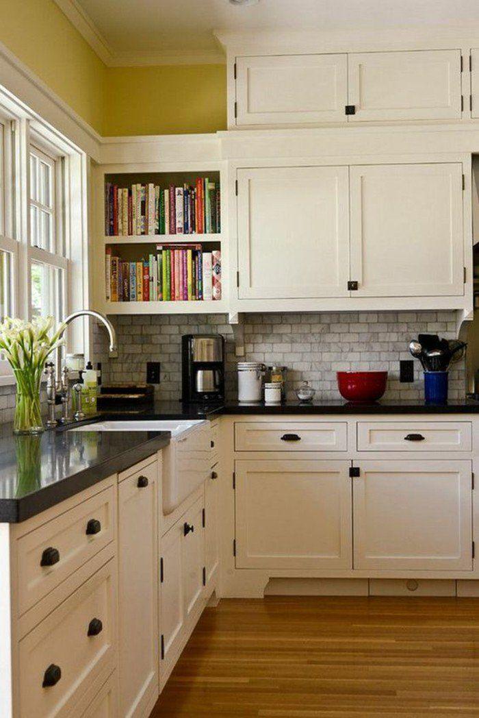 kücheneinrichtung offene wandregale bücher bücherregale Küche - offene küche und wohnzimmer