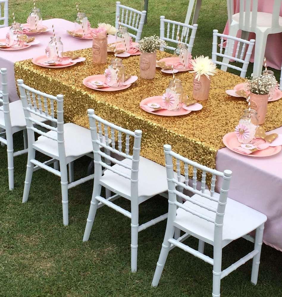 Minnie mouse en dorado y rosa cumplea os cumple y fiestas - Decoracion de cumpleanos rosa y dorado ...