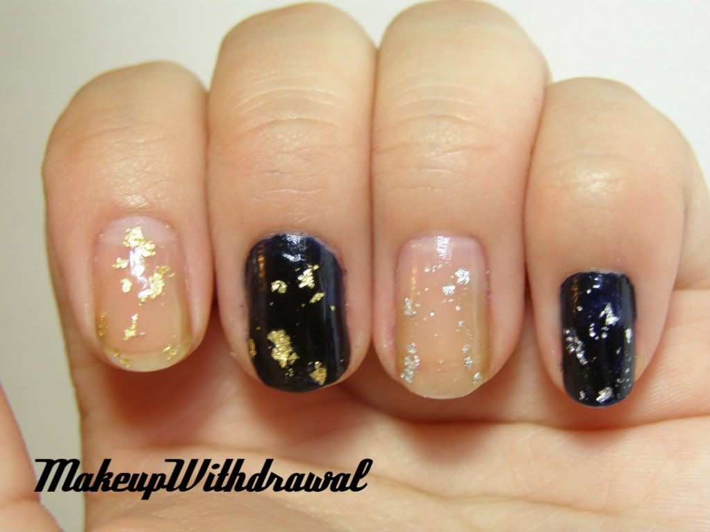 Making silver leaf (or gold leaf) nail polish flakes - I had been ...