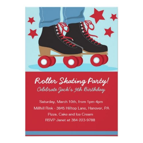 Roller skating birthday party invitations for boys party roller skate birthday invitations roller skating birthday party invitations for boys stopboris Gallery