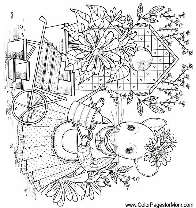 whimsy coloring page 60 Color Scenery Pages Coloring