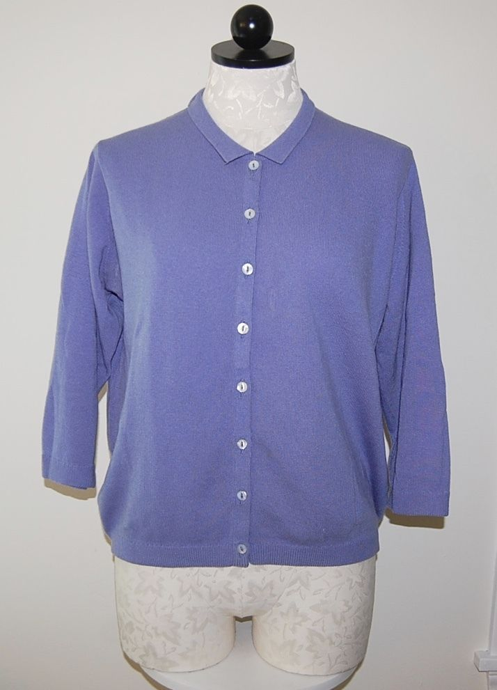 HOGG of HAWICK Scotland 100% Cashmere Periwinkle Blue Knit ...