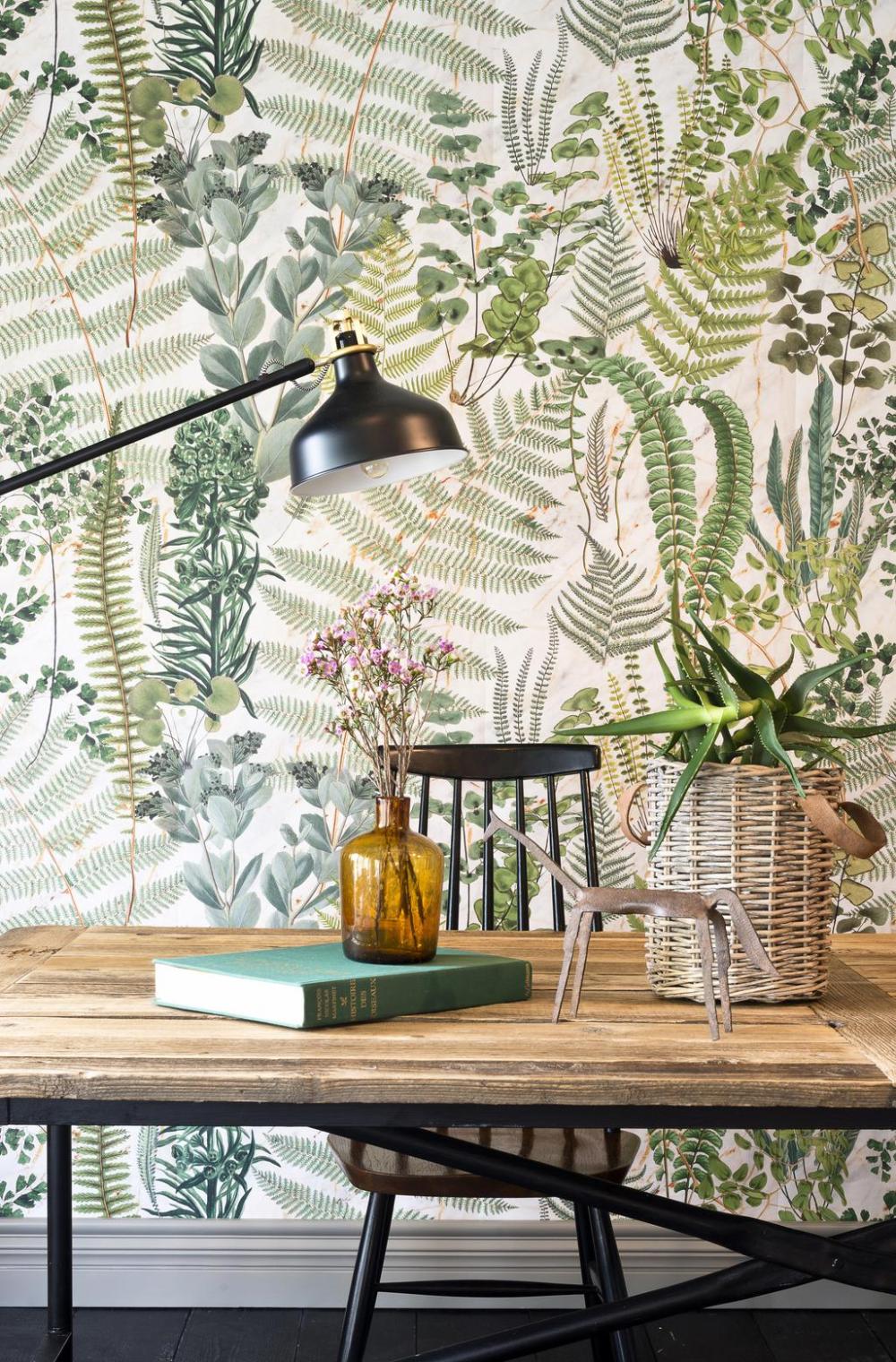 Green Sanctuary Mindthegap Wallpaper Nz Artisan Botanical Interior Design Botanical Interior Print Wallpaper