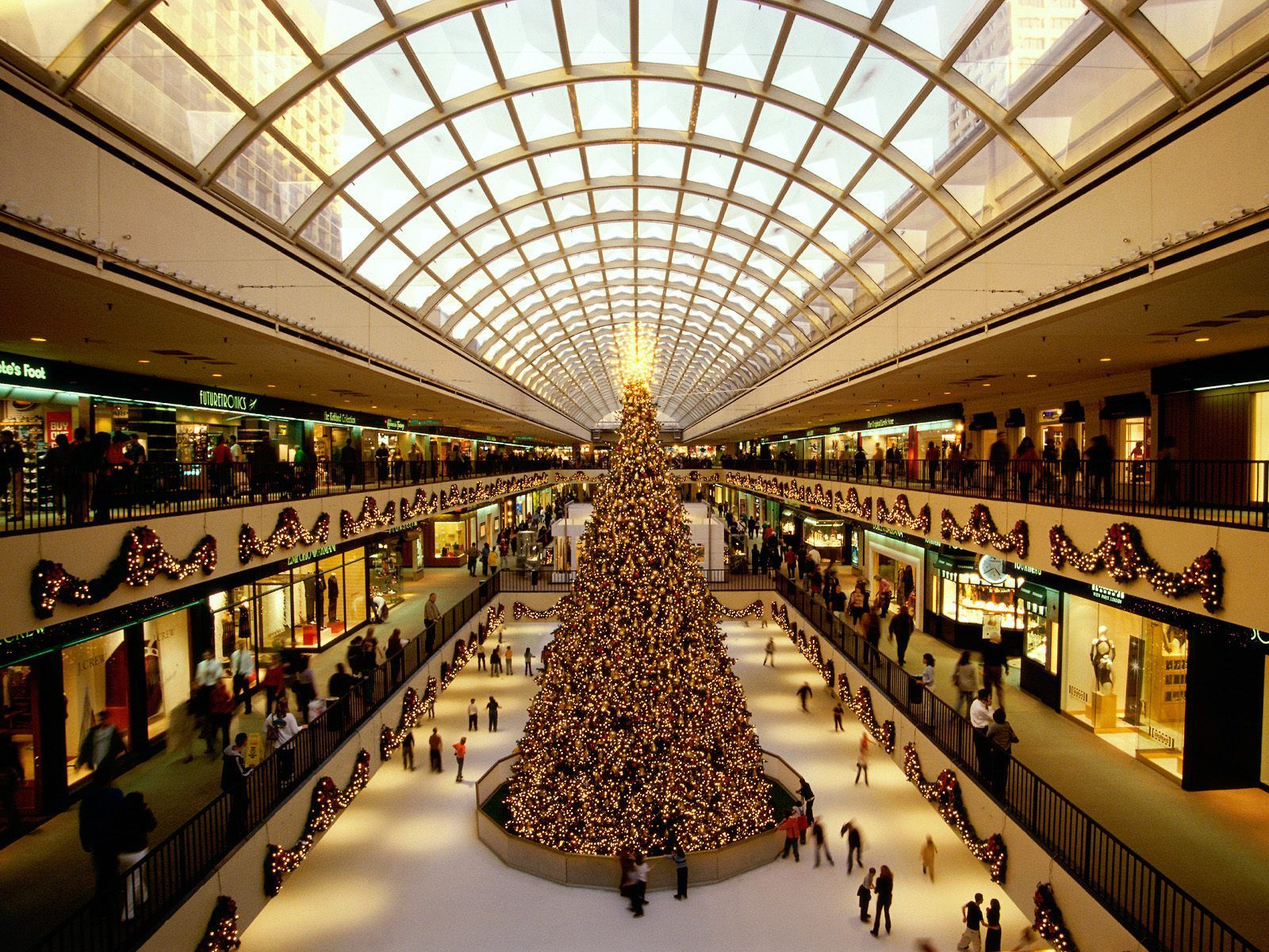 Houston Galleria ice rink at Christmas time. beautiful! | School ...