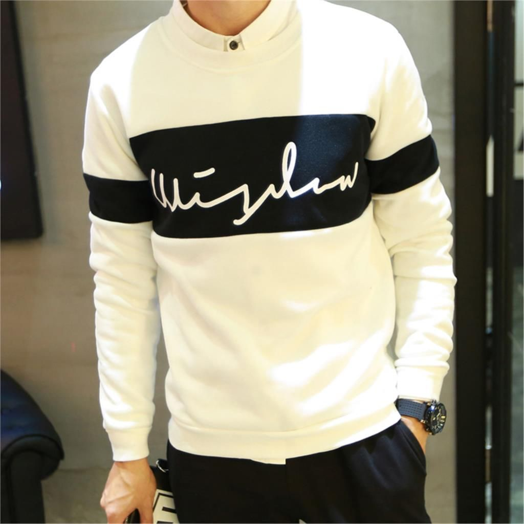 Aliexpress.com  Comprar 2015 nuevo otoño moda para hombre Streetswear  sudadera Color Block Letter Print Just Do It Casual sudaderas con capucha  sudaderas de ... ff0c661cd69e