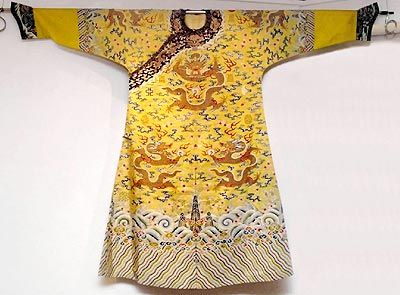 e92bfdb02 Dragon Robe (龙袍 Longpao). This robe, embroidered with dragon patterns, was  made for the exclusive use of the emperor during the Qing dynasty.