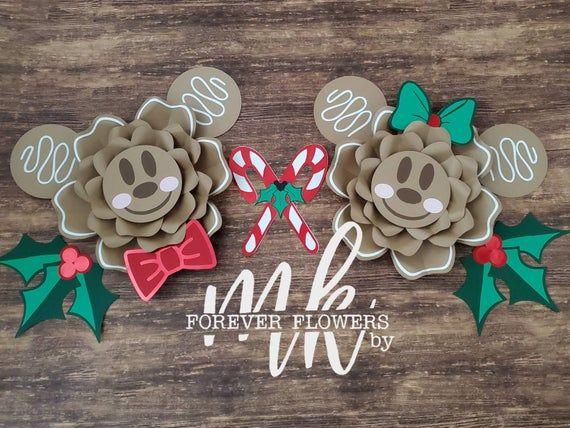 Gingerbread Mickey Backdrop