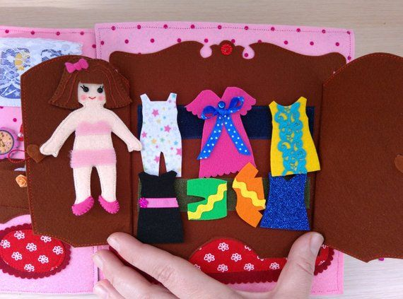 Quiet book doll house, Dollhouse, Non paper doll, Busy book, Felt book, Activity book, Christmas Quiet Book, Christmas gift, Toddler book