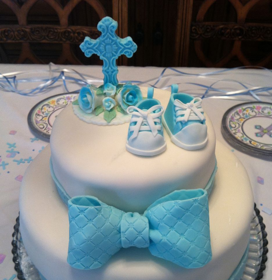 Baptism decorations google search cake pinterest for Baby boy cake decoration