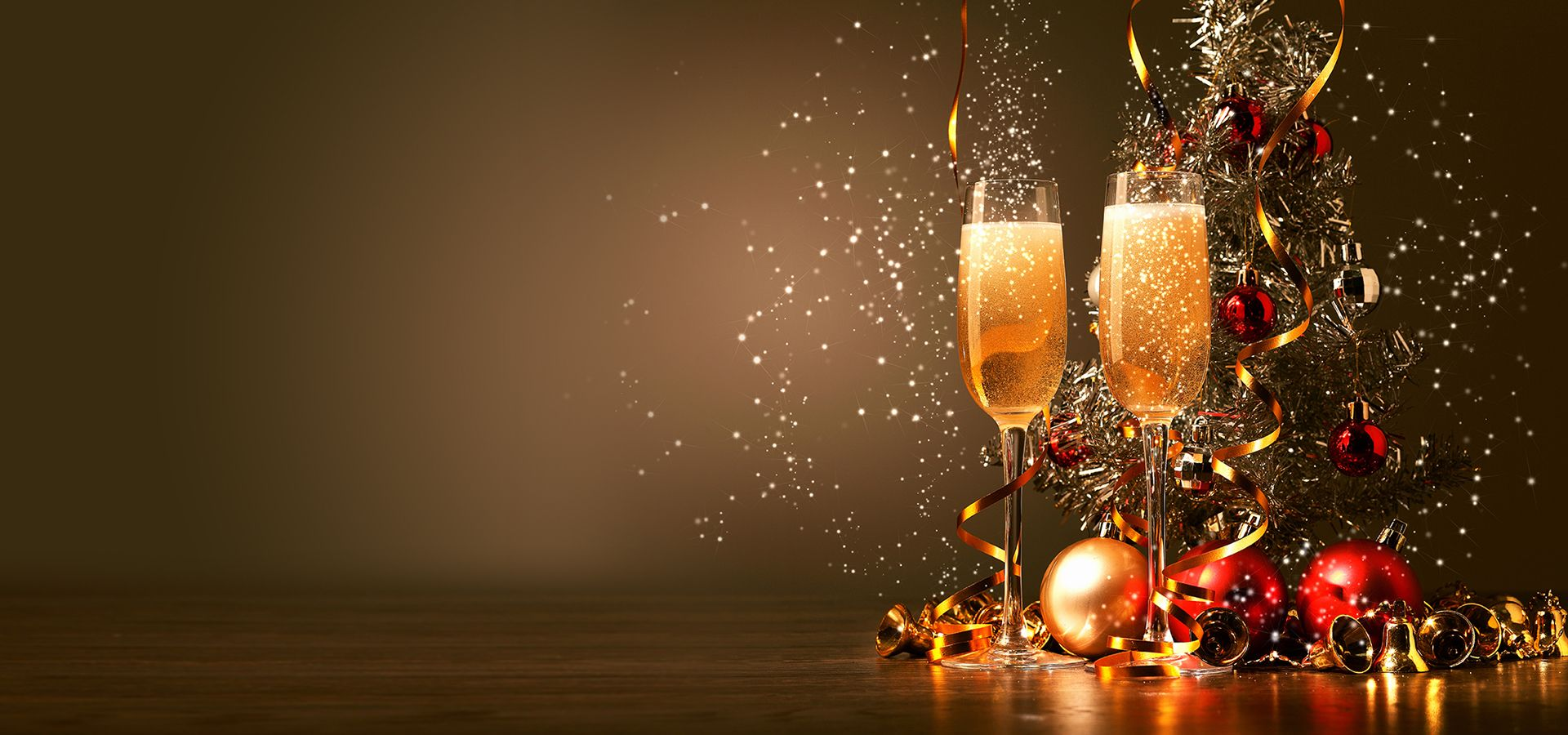 Colorful Festivals Champagne Background Christmas