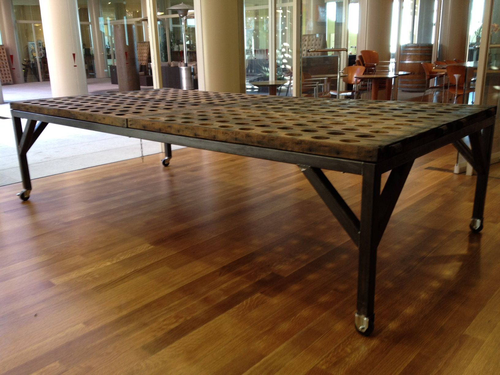 Custom Fabricated Metal Table Base | Made For Artesa Winery By Blacku0027s  Farmwood | Napa