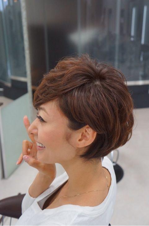 田丸麻紀 ドキドキ 結婚式 髪型 ボブ ショート パーマ 40代 ヘアカット