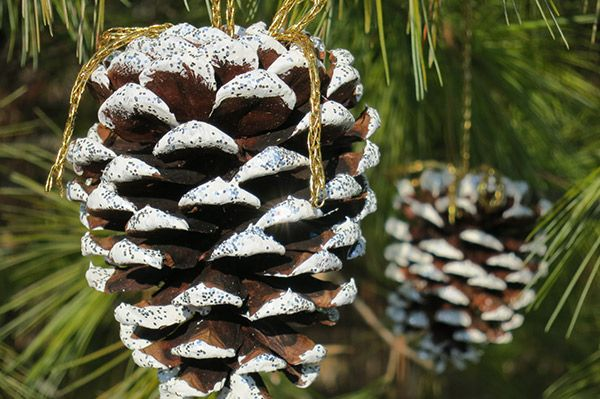 diy pinecone ornaments - Homemade Pine Cone Christmas Decorations
