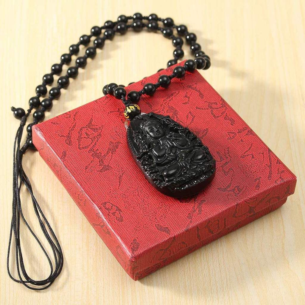 Unisex Men Women Carved Yellow Jade Pendant Jewellery Lucky Amulet Necklace Gift