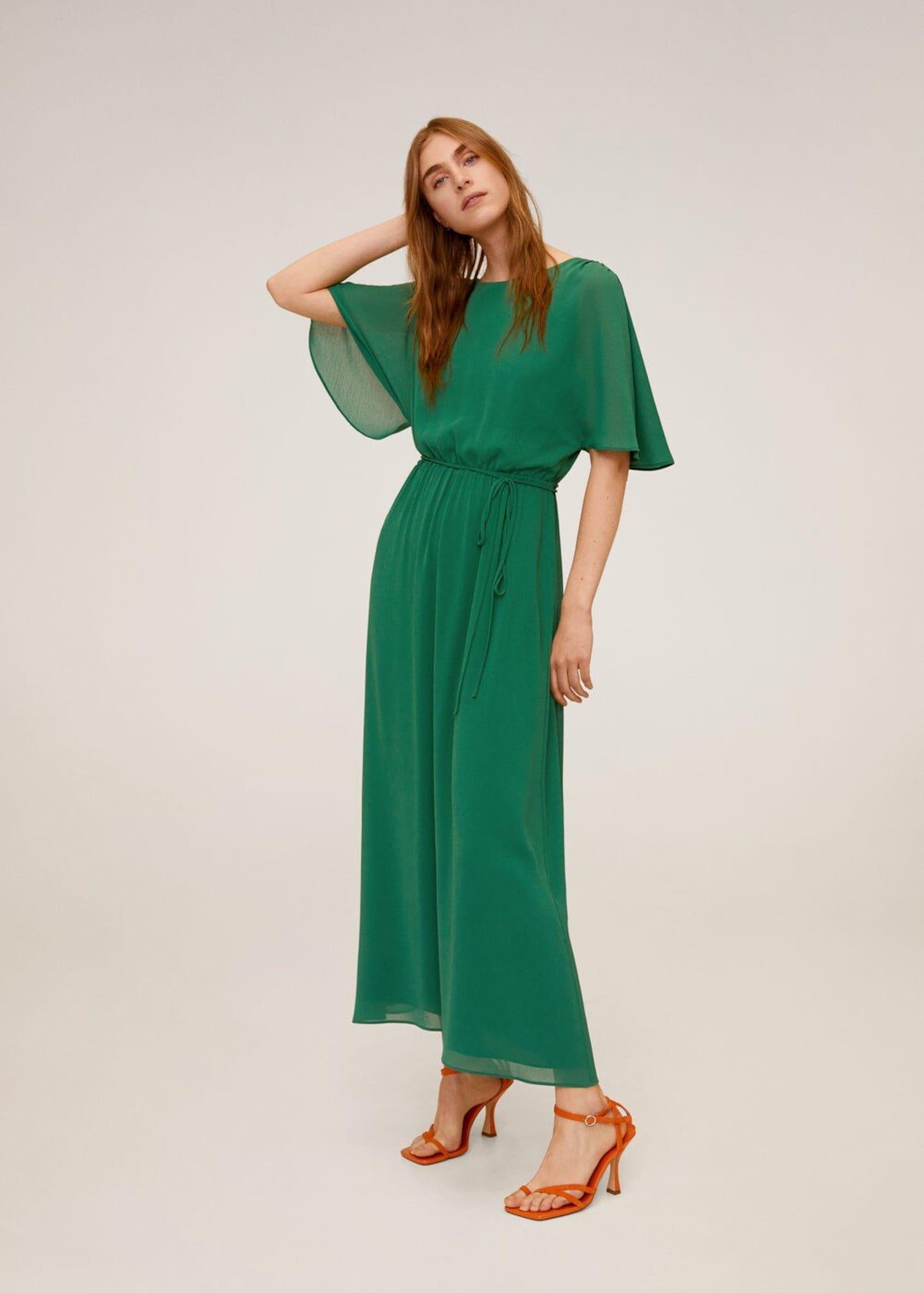 MANGO Kleid duddy-a Damen, Grün, Größe 18 in 18  Kleider, Damen