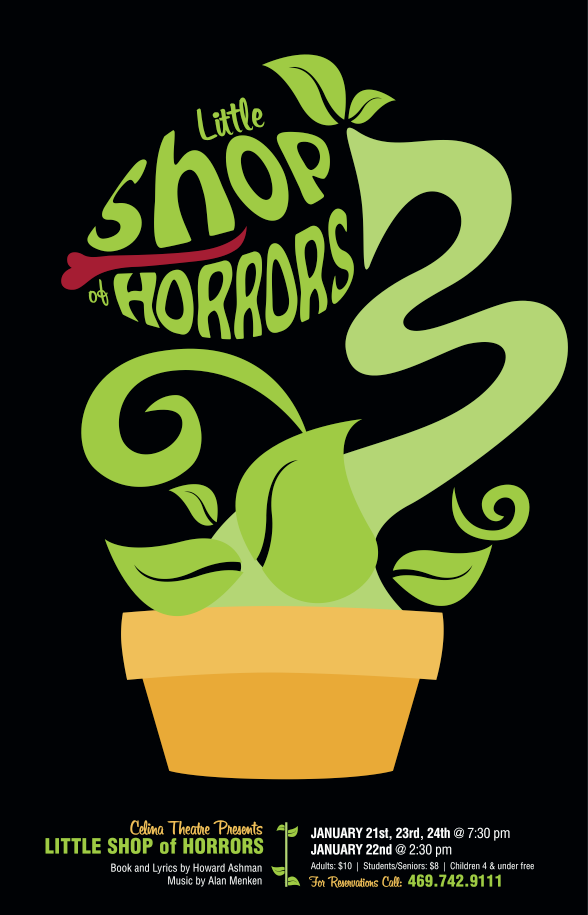 Theater Poster Design Little Shop Of Horrors