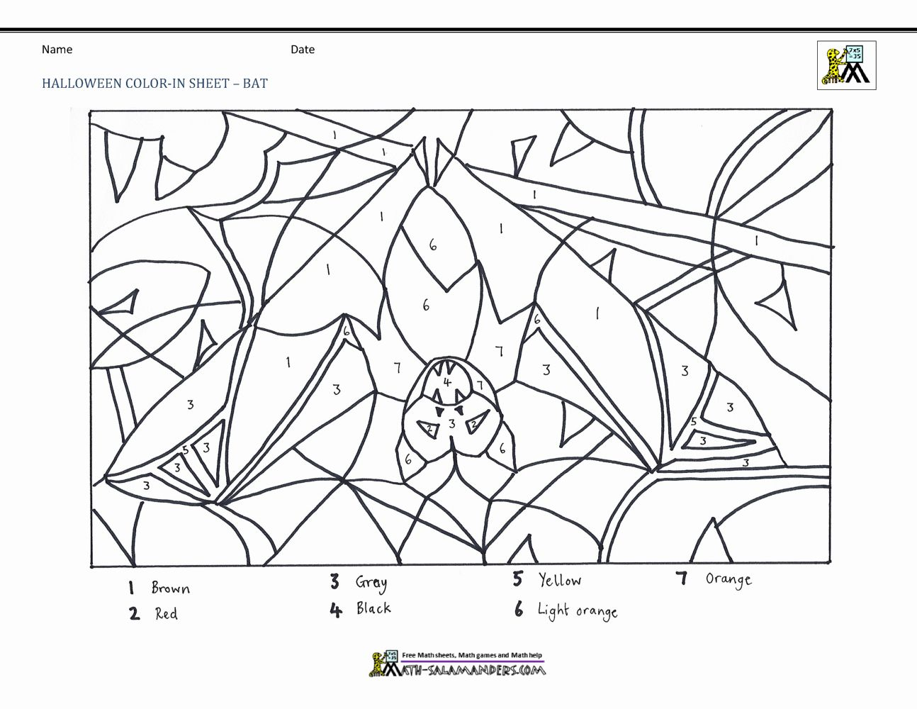 Halloween Math Coloring Page Inspirational Printable Color