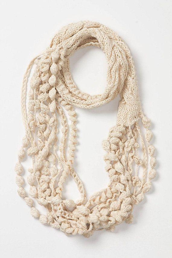 Scarf Knit&Crochet PATTERN- Boho Chic Infinity Scarf / Cowl/ Skinny ...