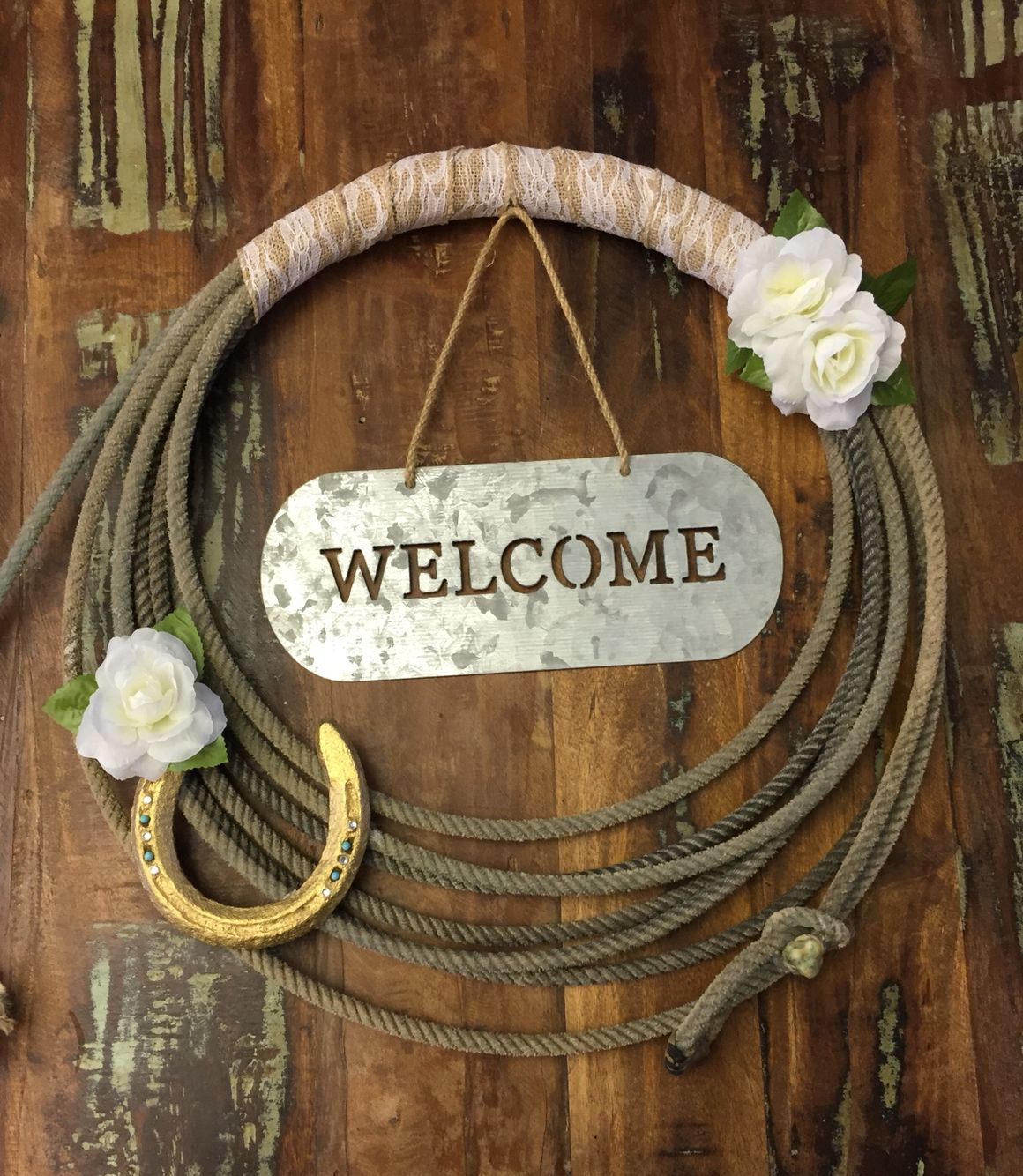 Diy Rope Craft Projects To Do At Home: Western Rope Wreath DIY Https://www.etsy.com/shop