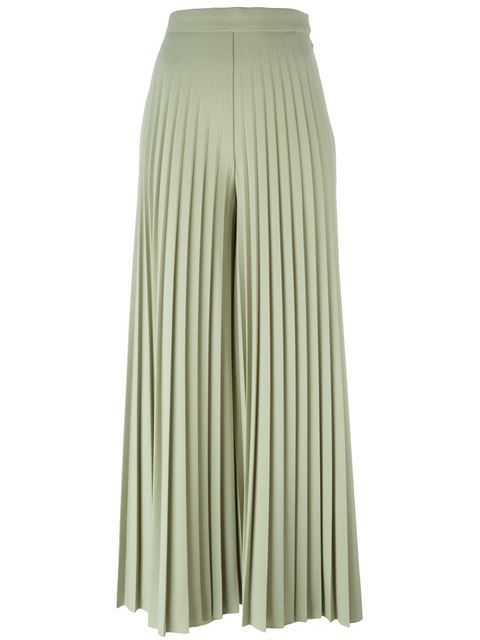 627a6a6070 Givenchy pleated palazzo pants / Pale Green cropped cotton-wool blend /  Reg. $2,755 Now $1,102 at Farfetch