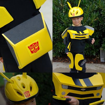 Homemade Bumblebee Transformer costume - so clever! #Halloween - halloween costume ideas for the office