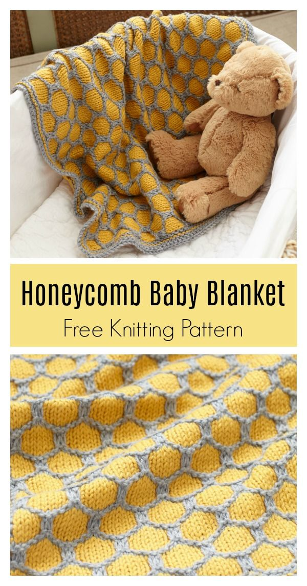 Honeycomb Afghan Baby Blanket Free Knitting Pattern | Häkeln by ...