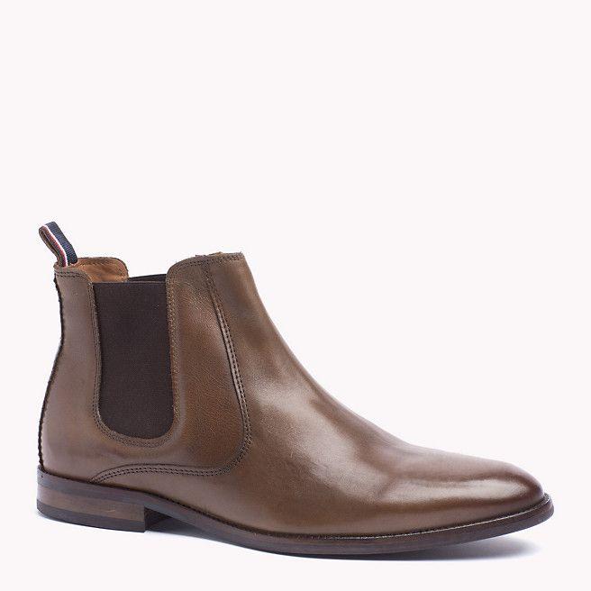 Leder Stiefel Tommy Hilfiger Chelsea Boots Mens Boots Fashion Boots
