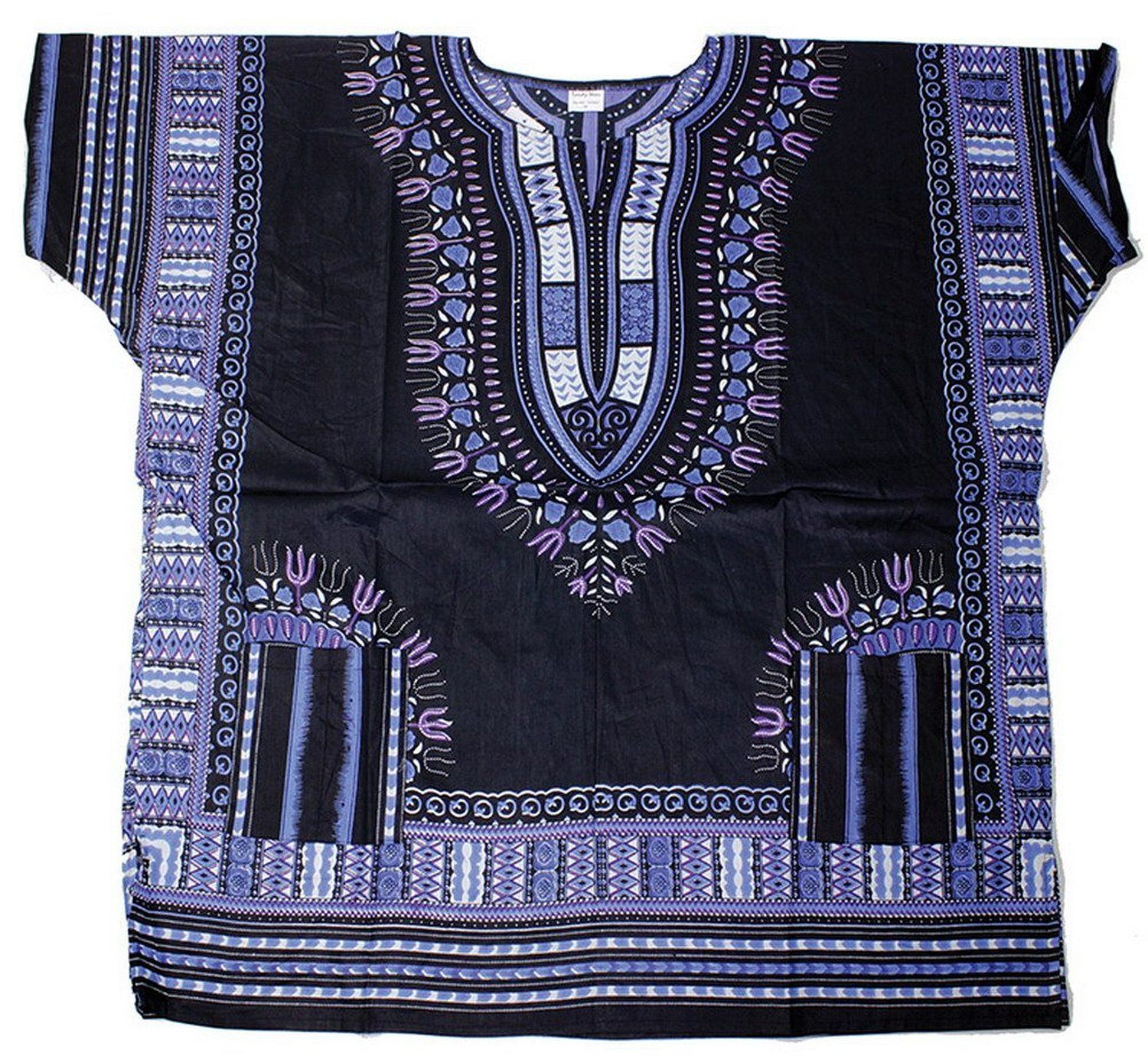 c540ddc8ca0 King-Sized Traditional Print Unisex Dashiki Top - 5 Sizes up to a 74 Inch  Chest - Available in Several Colors (1X
