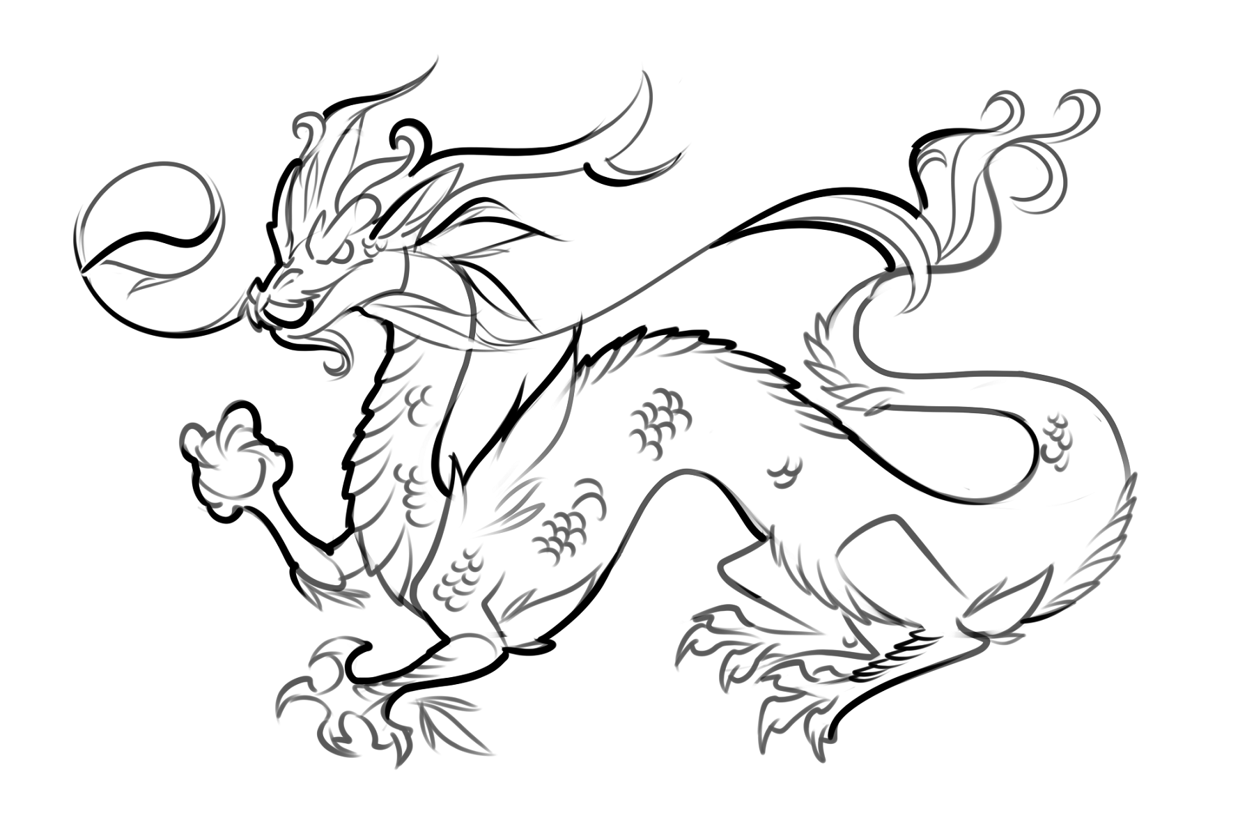 Dragon Coloring Pages Printable Dragon Coloring Page Chinese Dragon Drawing Dragon Pictures