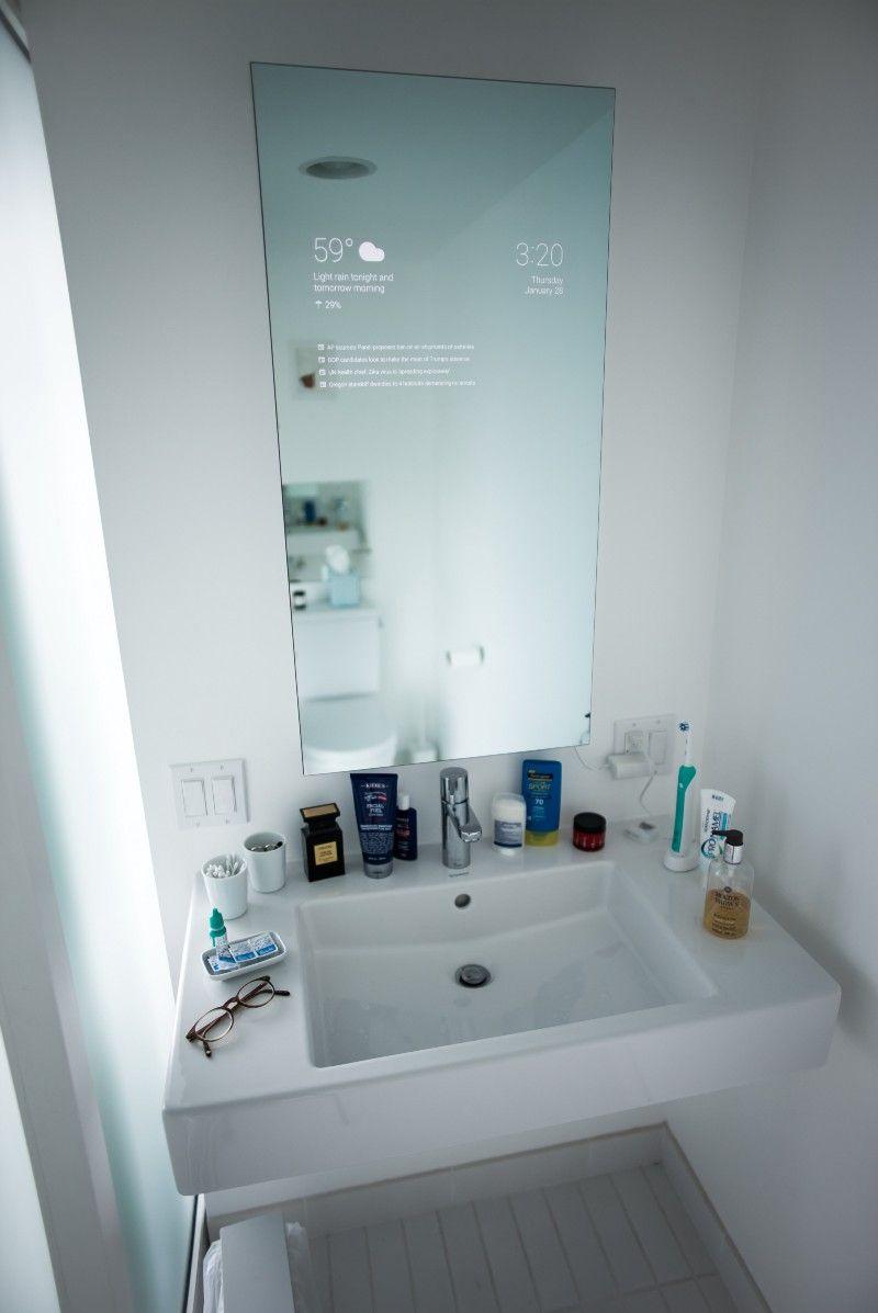 Der Badezimmerspiegel Eines Google Ingenieurs Smart Hjem Speil