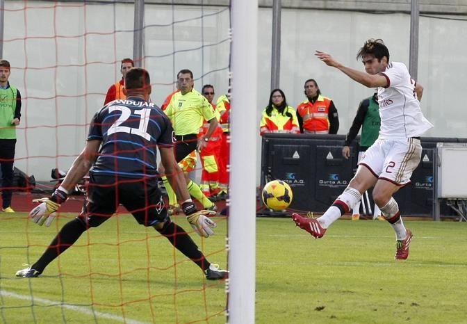 Il gol di Kakà a Catania per il 3-1 finale. Reuters
