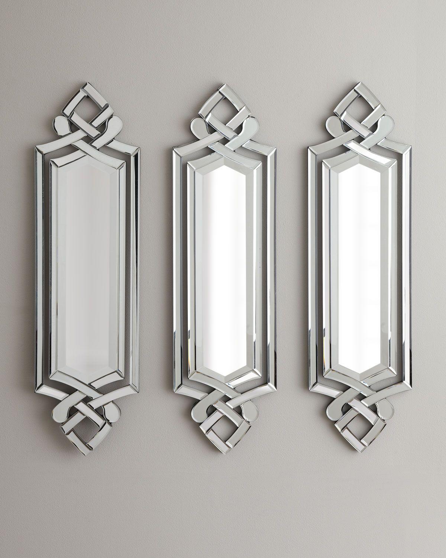 Small thin interesting Art Deco mirrors