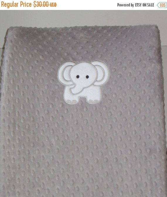 Changing pad cover elephant diaper change pad slipcover grey changing pad cover elephant diaper change pad slipcover grey minky zoo safari can personalize baby boy gift baby girl gift rts negle Image collections