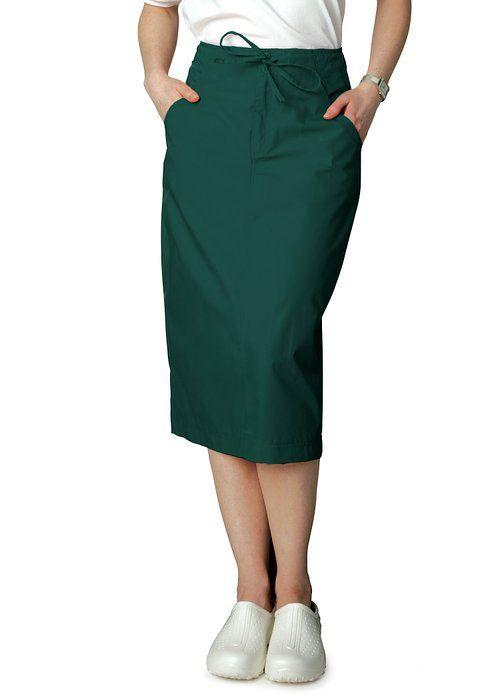 652b4d7124 Adar Universal Mid-Calf Length Drawstring Skirt (Available is 17 colors) -  707 - Hunter Green -